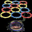 Koordinációs műanyag karika készlet 12 db-os, hordtáskával