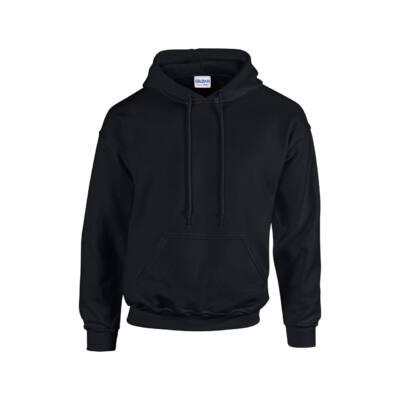 Extra méretű bebújós, kapucnis pulóver, fekete