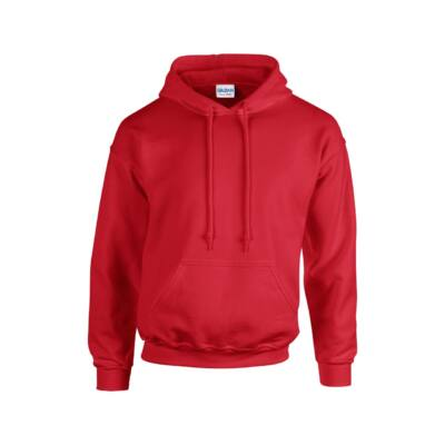Extra méretű bebújós, kapucnis pulóver, piros