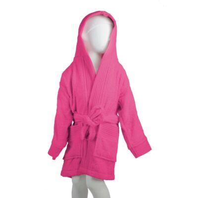 Fürdőköpeny kapucnis, pink - gyerek