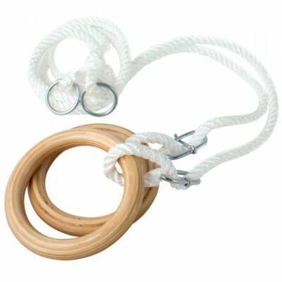 Fa tornagyűrű, felnőtt, kötéllel