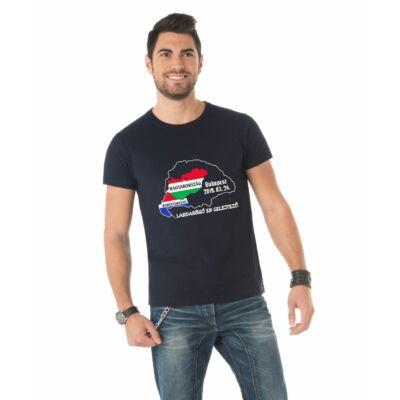EB selejtező póló Magyarország - Horvátország, fekete