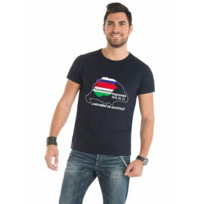 EB selejtező póló Szlovákia - Magyarország, fekete