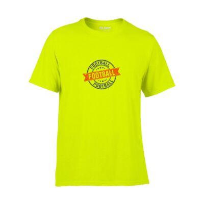 Póló Football logós, neon zöld