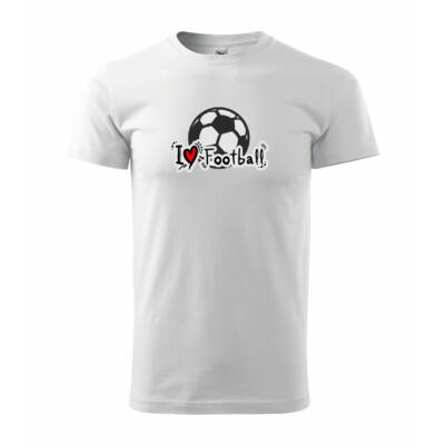 Póló I Love football , fehér