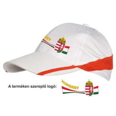 Magyar baseball sapka fehér - piros