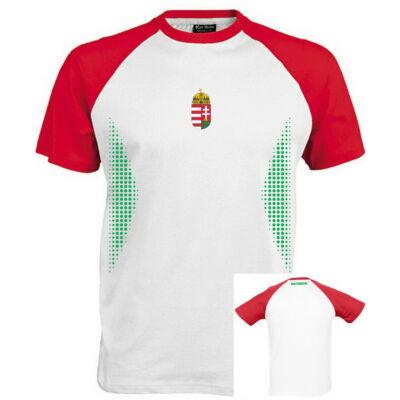 Magyar válogatott szurkolói póló , fehér-piros