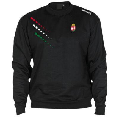 Extra méretű magyar pulóver bebújós, fekete