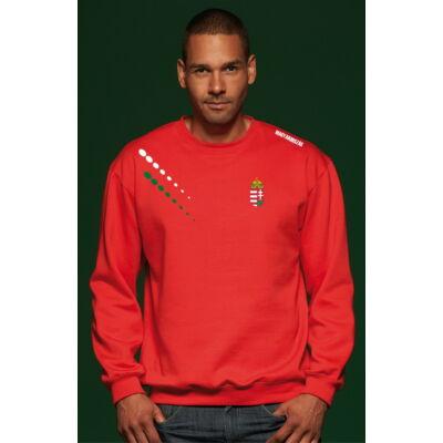 Extra méretű magyar pulóver bebújós, piros