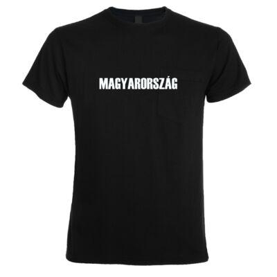 Magyarország feliratos póló, fekete