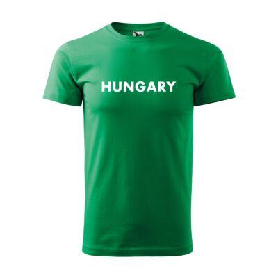 HUNGARY feliratos póló, zöld