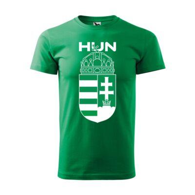 Nagy magyar címeres és magyarország feliratos zöld póló