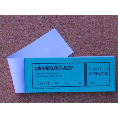 Pályabelépő jegy