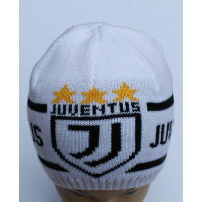 Juventus sapka kötött, fehér