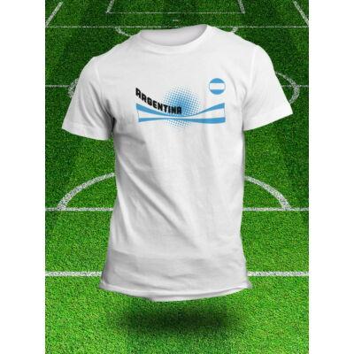 Argentín válogatott szurkolói póló, fehér