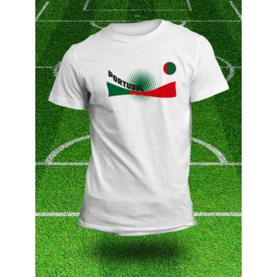 Portugál válogatott szurkolói póló, fehér
