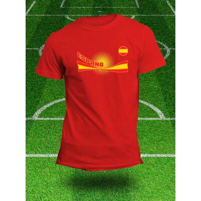 Spanyol válogatott szurkolói póló, piros