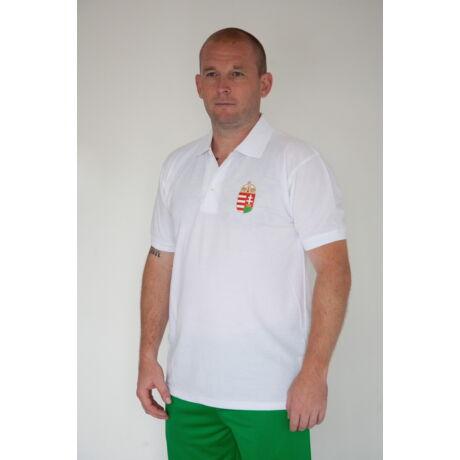 Magyar válogatott galléros póló, FEHÉR