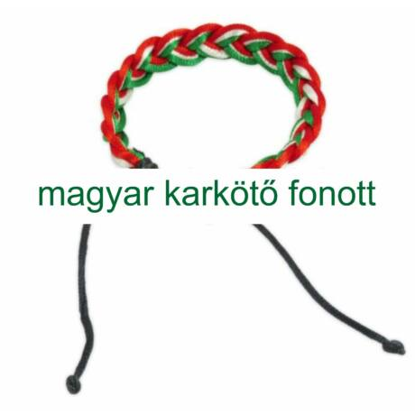 Magyar karkötő, fonott