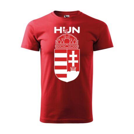 Nagy magyar címeres és magyarország feliratos piros póló
