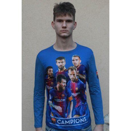 Barcelona hosszú ujjú gyerek póló, képes